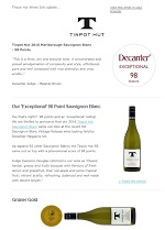 Tinpot Hut Wines newsletter July 2017