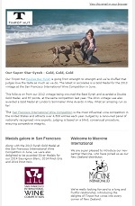 Tinpot Hut Wines newsletter July 2015