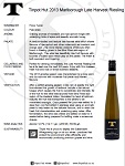 Late Harvest Riesling 2013