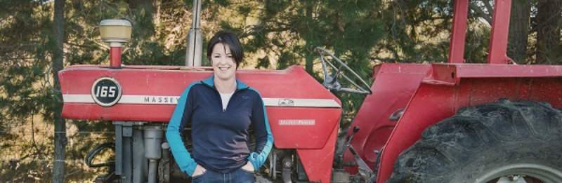 Fiona Turner with tractor